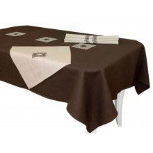 Комплект столовый Эллада с вышивкой 143х250