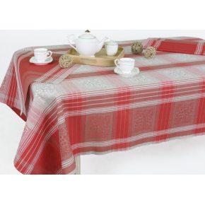 Льняной комплект столовый Ягодка 150х250 с салфетками