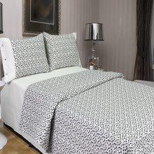 Комплект двуспальный Лепесток черно-белый