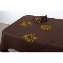 Комплект столовый Аделия с вышивкой 143х250