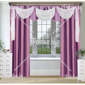 Готовые шторы Илаида лилового цвета