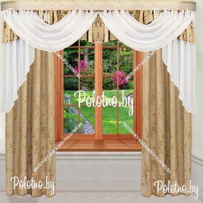 Комплект готовых штор в спальню и гостиную Николь  — 2.5