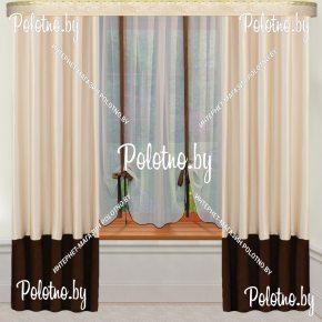 Комплект готовых штор в спальню и гостиную Рената  — 2.6
