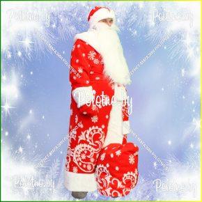 Купите костюм Деда Мороза красный новогодний маскарадный — карнавальные костюмы