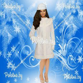 Купите костюм Снегурочки белый укороченный новогодний маскарадный — карнавальные костюмы