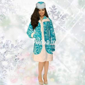 Купите костюм Снегурочки голубой укороченный новогодний маскарадный — карнавальные костюмы