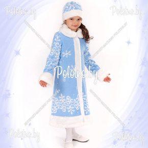 Купите костюм Снегурочки белый новогодний маскарадный детский — карнавальные костюмы