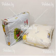 Одеяло и подушка детские в кроватку