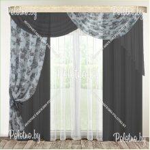 Готовые шторы в спальню и гостиную Камелия — 2.5