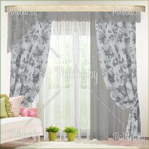 Комплект готовых штор Омега — 2.6 серый