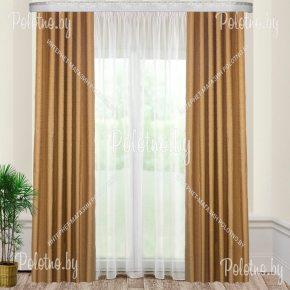 Готовые шторы Оптима коричневого цвета с доставкой по Минску