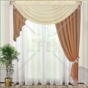 Комплект готовых штор в спальню и гостиную Веста — 2.5