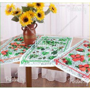 Набор льняных кухонных полотенец Ягода из 3 шт арт. 16с154