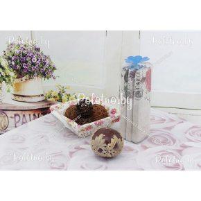 Льняной набор кухонных полотенец в тубусе 3 шт Муза