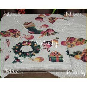 Набор льняных кухонных полотенец Новый год лен