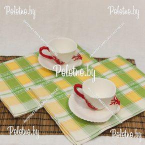 Льняное полотенце для кухни Маргаритка