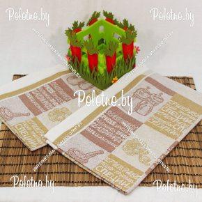 Льняное полотенце для кухни Чеснок-бадьян