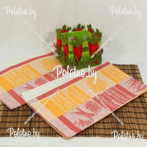 Льняное полотенце для кухни Перец-лавр