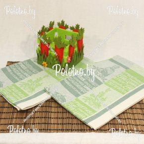Кухонное льняное полотенце Оливки-лимон