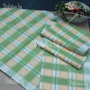 Льняное полотенце для кухни Маргаритка №2