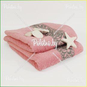 Банное махровое полотенце Жасмин 50х90