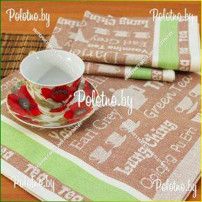 Льняное кухонное полотенце Чай