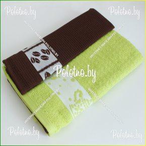 Набор махровых полотенец для кухни Хозяюшка с бордюром (вставкой)