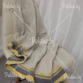 Банное полотенце льняное серого цвета Ямайка