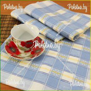 Льняное кухонное полотенце Маргаритка 100% лён