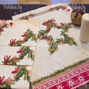 Кухонное полотенце с праздничным рисунком Рождества