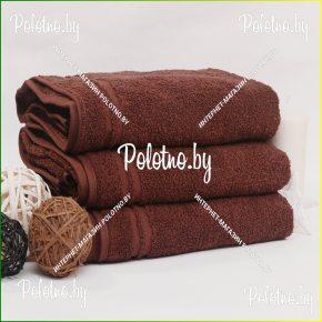 Банное махровое полотенце с бордюром (вставкой) 70х130