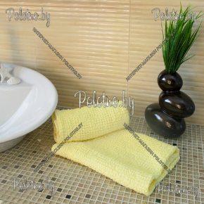 Льняное полотенце Зефир желтого цвета