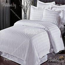 Комплект двуспальный Белая полоска поплин 50х70