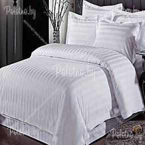 Купите комплект «Белая полоска» поплин евро — поплиновое постельное белье