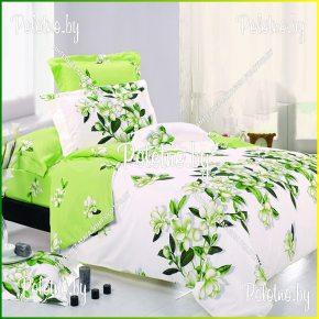 Купите комплект «Цветочная иллюзия» поплин двуспальный — поплиновое постельное белье