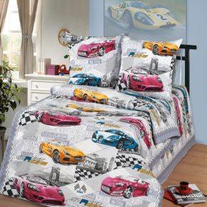 Детский полуторный комплект постельного белья Форсаж