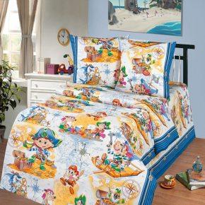 Детский полуторный комплект постельного белья Пираты