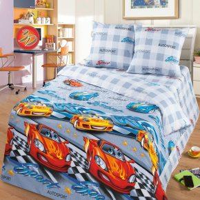 Детское постельное бельё с гоночными тачками
