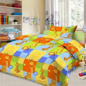 Детский полуторный комплект постельного белья Жирафы