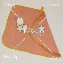 Салфетка махровая 40х60 см персик