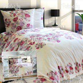 Купите комплект «Цветочный вихрь» сатин полуторный — сатиновое постельное белье