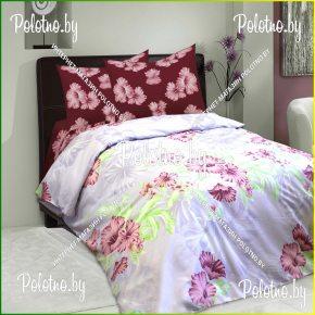 Купите комплект «Гибискус» сатин евро — сатиновое постельное белье