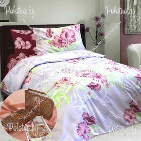 Купите комплект «Гибискус» сатин двуспальный 50х70 — сатиновое постельное белье