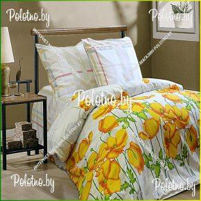 Купите комплект «Летний сон» сатин полуторный  — сатиновое постельное белье
