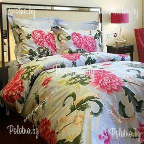 Купите комплект «Пионы» бязь полуторный 70х70 — бязевое постельное белье