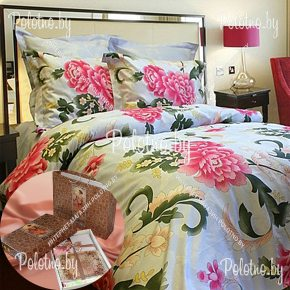 Купите комплект «Пионы» сатин двуспальный — сатиновое постельное белье
