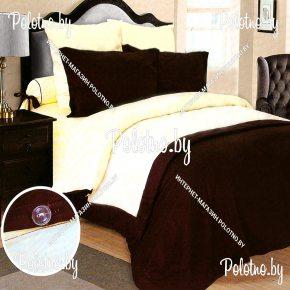 Комплект постельного белья Шэдоу из сатина на пуговицах
