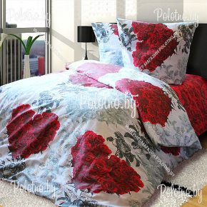 Купите комплект Сердце любви бязь полуторный 50х70 — бязевое постельное белье