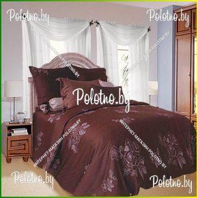 Купите комплект «Шоколад» сатин двуспальный 70х70 — сатиновое постельное белье