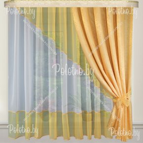 Готовые шторы для кухни Дина золото